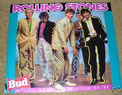 ROLLING STONES Steel Wheels Concert Poster 89