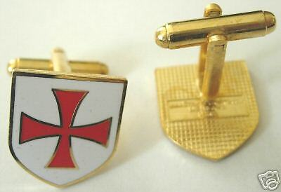 Crusaders Templar Knights Order Shield Cross CUFF LINKS