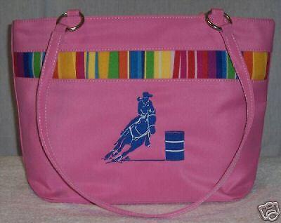 Barrel Racer Racing PINK Handbag tote horse rodeo NEW B