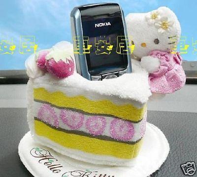 Hello Kitty Cake Car Mobile Phone Storage Holder