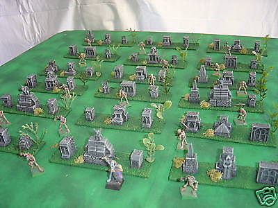 CUSTOM TERRAIN WARGAMING PAINTED D&D MINIATURES EW TOMBSTONE